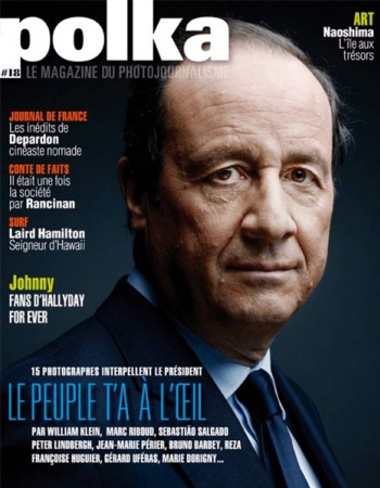 François Hollande in the POLKA Magazine