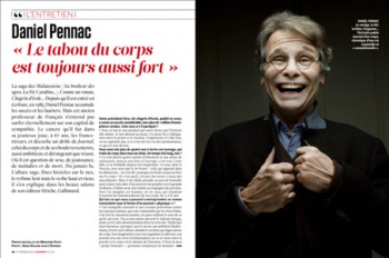 Daniel Pennac in the L'EXPRESS Magazine