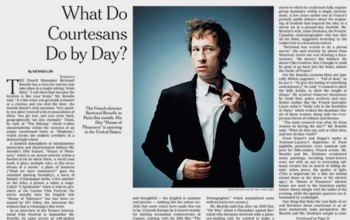 Bertrand Bonello in the NEW YORK TIMES Magazine