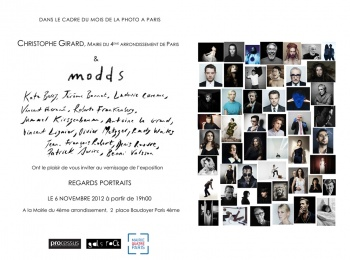 Exhibition at City Hall 4th District Paris. Regards Portraits from Modds agency