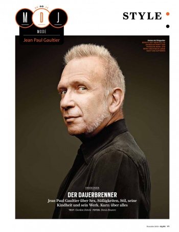 Jean-Paul Gaultier for GQ Germany Magazine