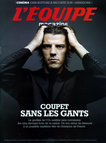 Grégory Coupet in the L'EQUIPE Magazine