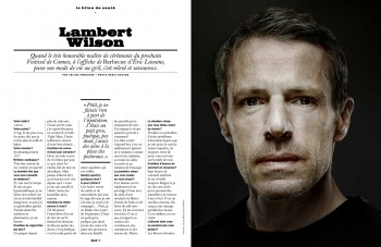 Lambert Wilson in the LUI Magazine
