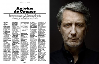 Antoine De Caunes in the LUI Magazine