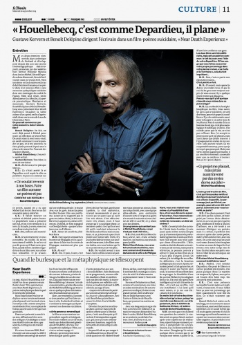 Michel Houllebecq in the  LE MONDE Magazine