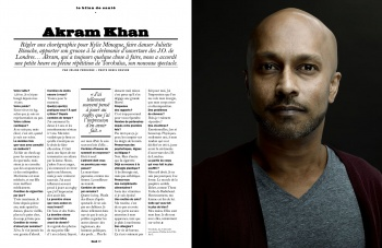 Akram Khan in the LUI Magazine