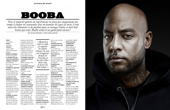 Booba in the LUI Magazine