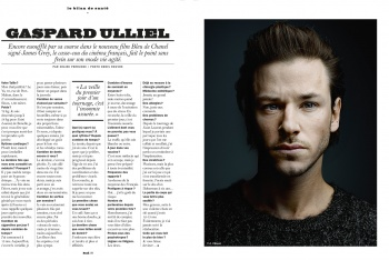 Gaspard Ulliel in the LUI Magazine