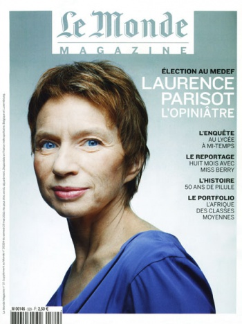 Laurence Parisot in the LE MONDE Magazine