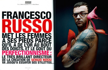 Francesco Russo in the MARIE CLAIRE 2 Magazine