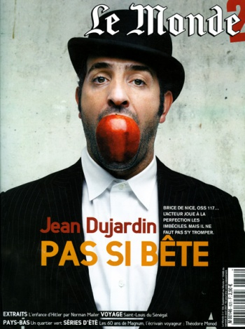 Jean Dujardin in the LE MONDE 2 Magazine